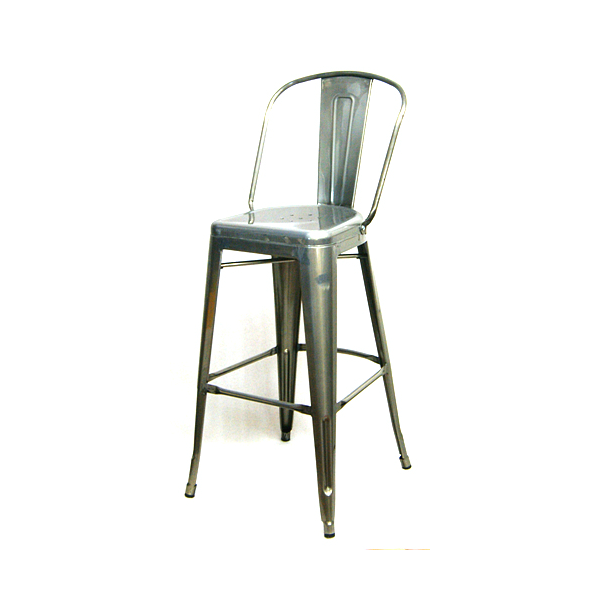 pewter high back tolix bar stool hospitality chairs