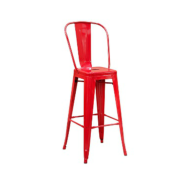 Strange Red Baron High Back Tolix Bar Stool Hospitality Chairs Gmtry Best Dining Table And Chair Ideas Images Gmtryco