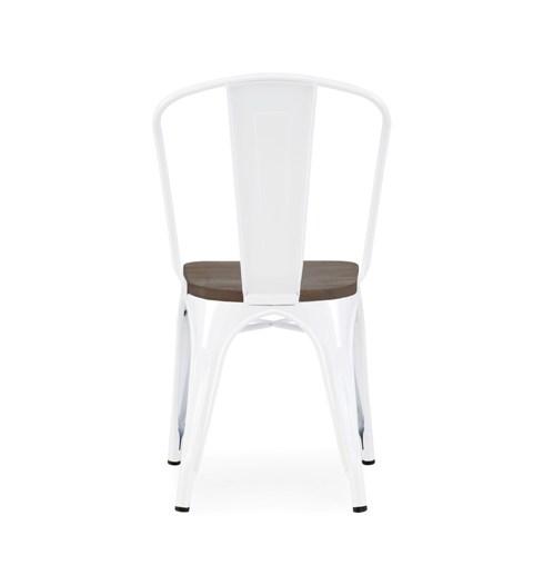 The Hamptons Wood Seat White Tolix Chair U2013 Hospitality Chairs U2013  Hospitalitychairs.com