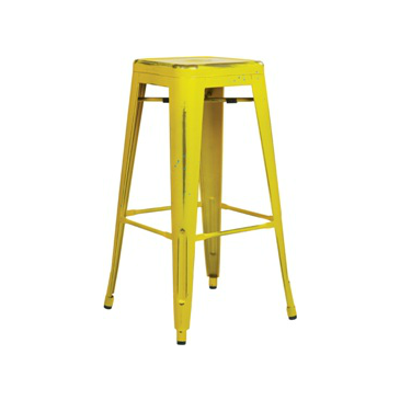 Terrific Old Country Yellow With Blue Paint Speckles Tolix Bar Stool Lamtechconsult Wood Chair Design Ideas Lamtechconsultcom