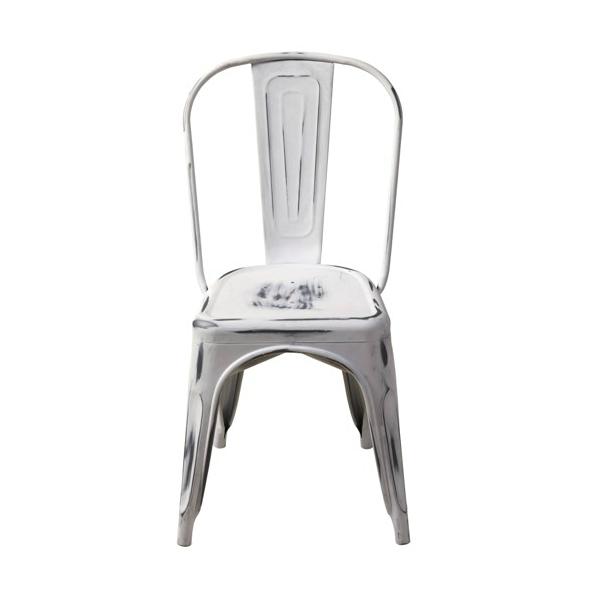 Soft White Distressed Finish Tolix Chair U2013 Hospitality Chairs U2013  Hospitalitychairs.com