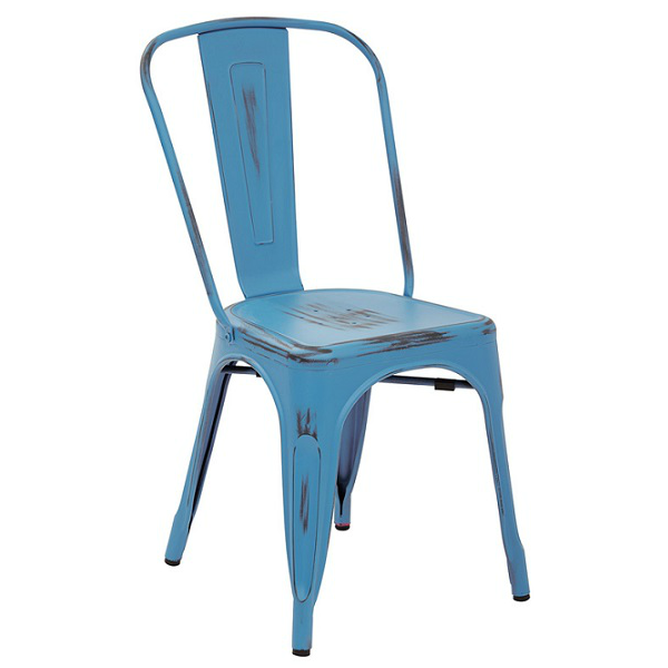 Outstanding French Blue Antique Weathered Finish Tolix Chair Theyellowbook Wood Chair Design Ideas Theyellowbookinfo