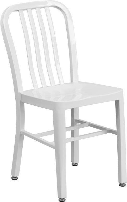 KAli Industrial White Galvanized Side Chair U2013 Hospitality Chairs U2013  Hospitalitychairs.com