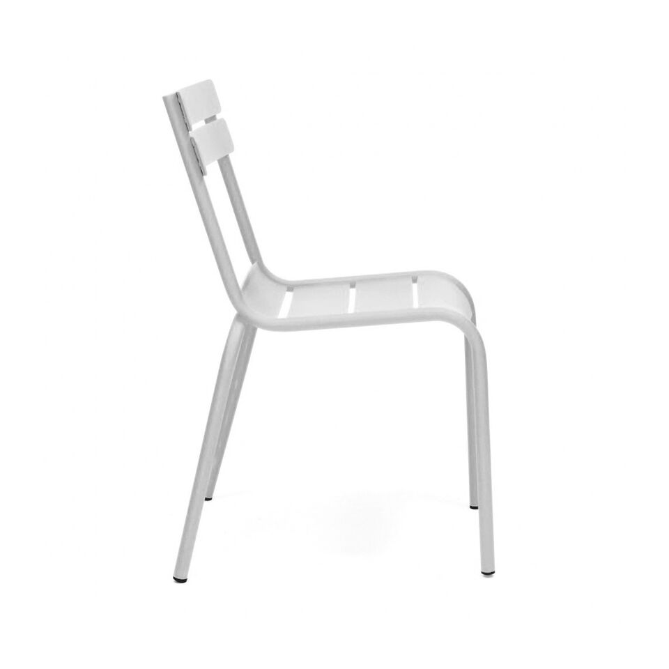Massima White Indoor Outdoor Galvanized Side Chair U2013 Hospitality Chairs U2013  Hospitalitychairs.com