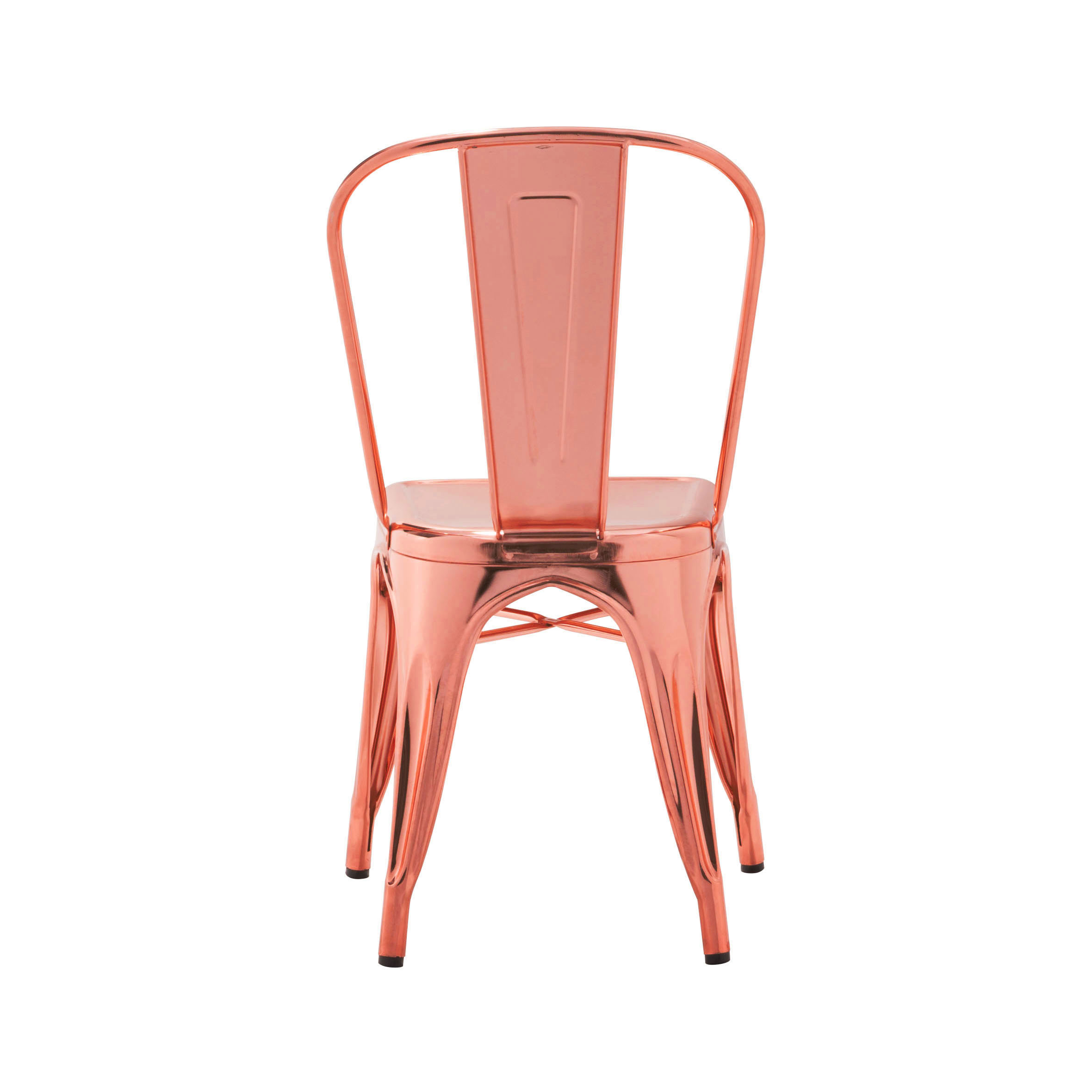 varnished bvb stackable chairs indoor chair glossy steel armchair raw prod by tolix