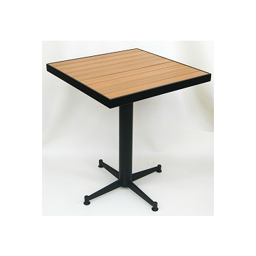 Honey Plas Teak Outdoor Table Tops Black Frame