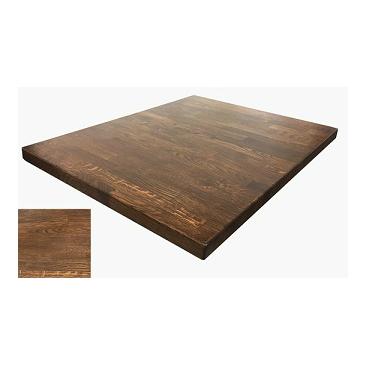 Medium Walnut Finish White Oak Butcher Block Table Top Hospitality - Oak butcher block table top