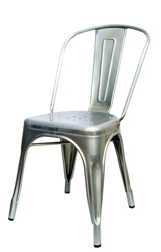 Galvanized Silver Tolix Chair For