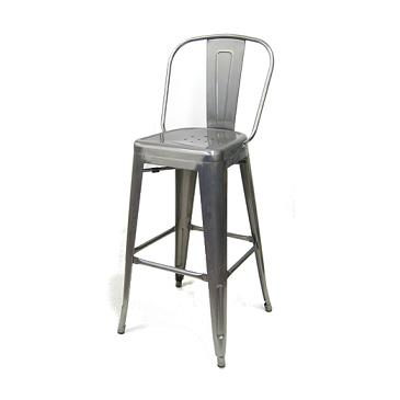 Medium Gun Metal High Back Tolix Bar Stool Hospitality Chairs Hospitalitychairs